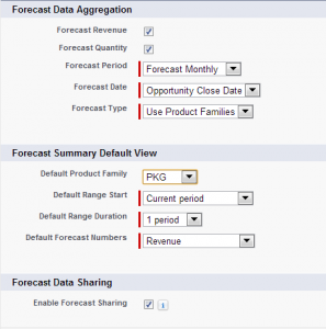 Forecasts Settings