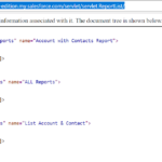 Salesforce Report List Using XML Format